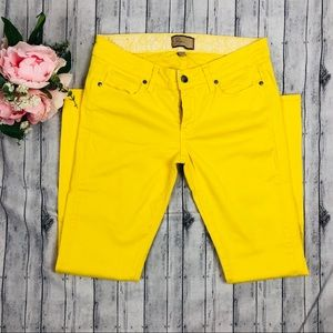 Paige Yellow Peg Skinny Jeans
